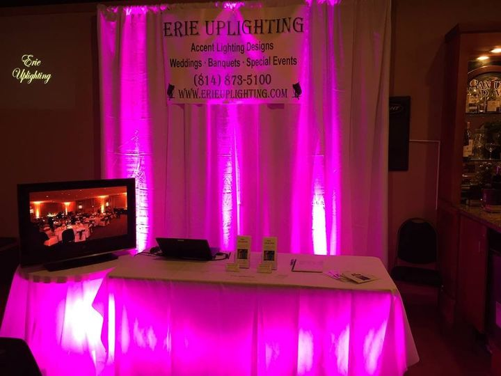 Tmx 1456549704346 Uplighting Curtains Pink Erie, Ohio wedding eventproduction