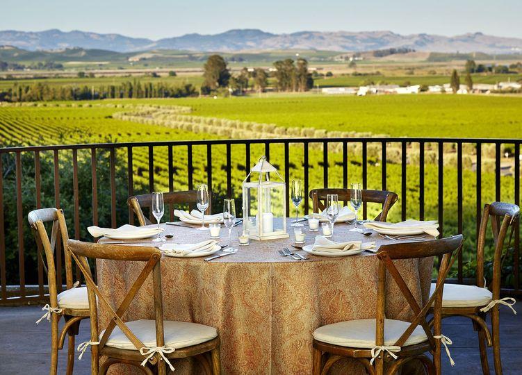 Terrace dinner setup
