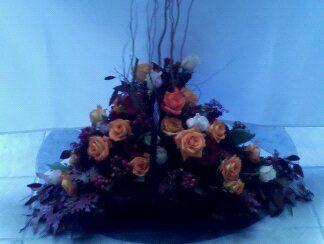 Fireside basket. Altar arrangement.