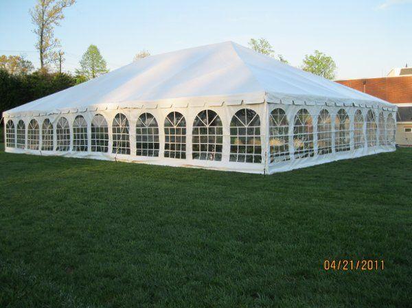 Closed tent exterior