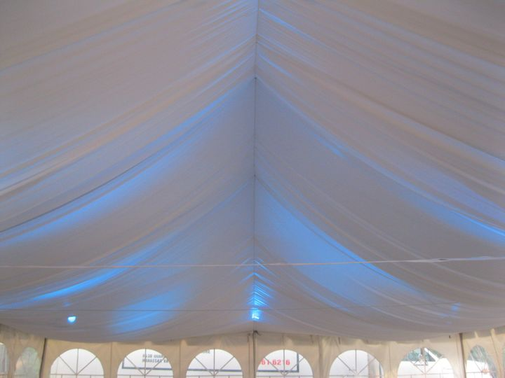 Blue tent lights