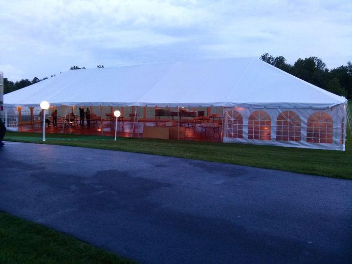 Reception tent entrance