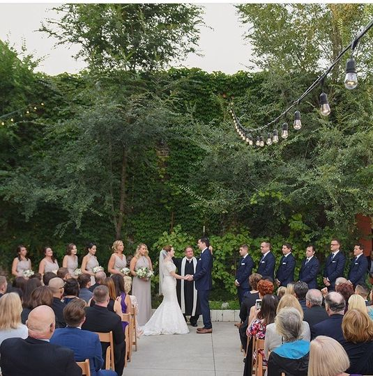 Wine Garden Ceremony