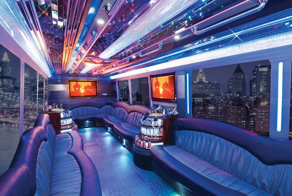 Interior of the limousine
