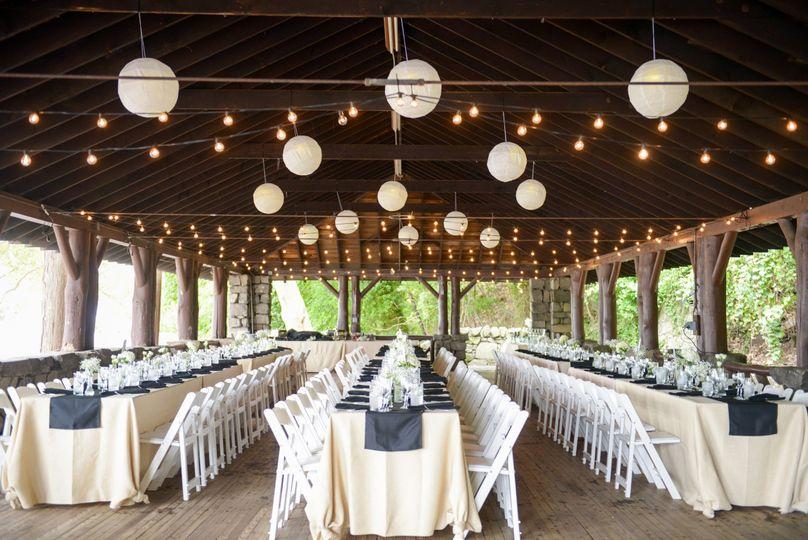 Rustic reception venue