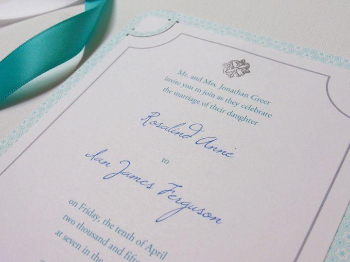 Tmx 1415214915519 Corner Punch Patterned Invite 4 Conway, SC wedding invitation