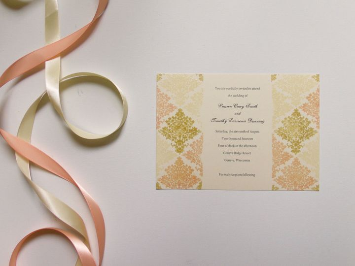 Tmx 1415214939784 Damask Invite 1 Conway, SC wedding invitation