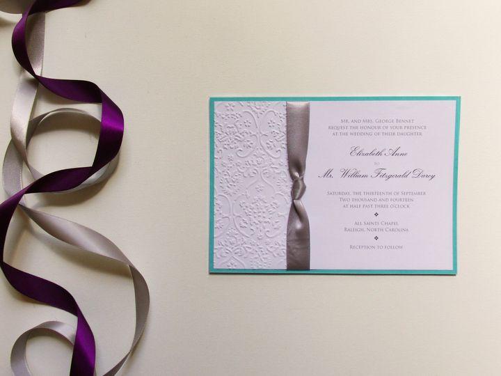 Tmx 1415214969532 Embossed Invite 1 Conway, SC wedding invitation