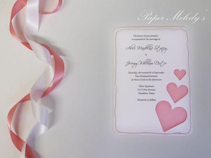 Tmx 1415215009426 Heart Invitation 1 Conway, SC wedding invitation