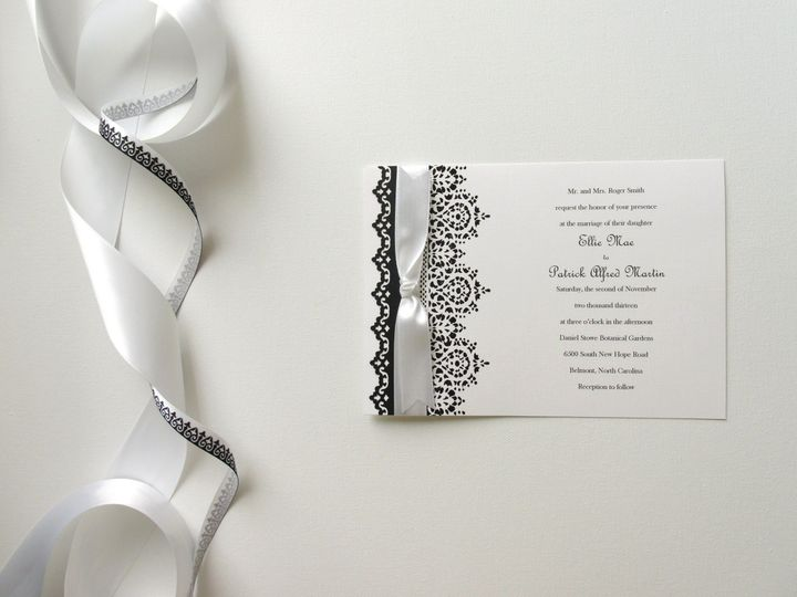 Tmx 1415215039532 Lace Invite 1 Conway, SC wedding invitation
