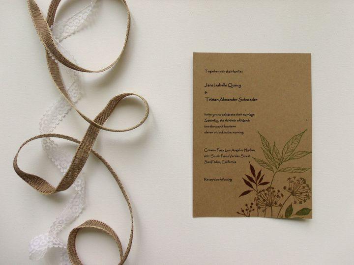 Tmx 1415215113608 Natural Invite 1 Conway, SC wedding invitation