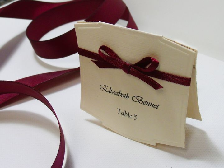 Tmx 1415215171187 Place Card With Bow 2 Conway, SC wedding invitation