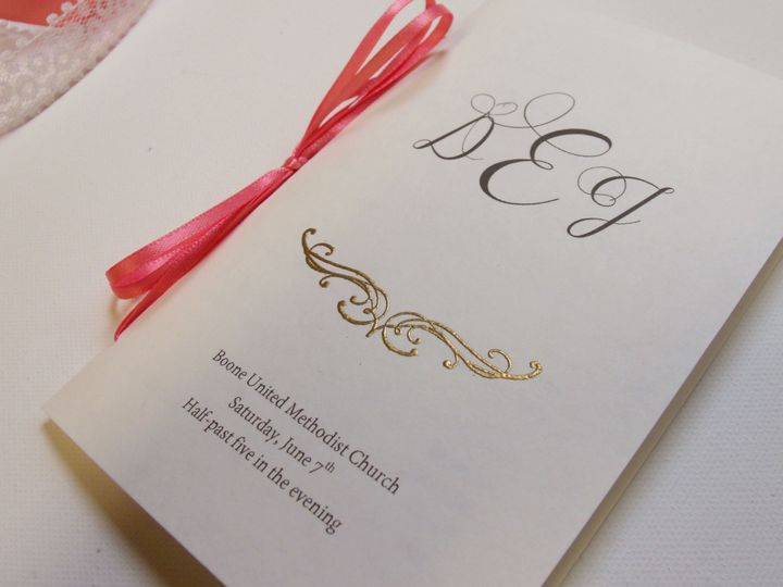 Tmx 1415215230142 Small Monogram Program 2 Conway, SC wedding invitation