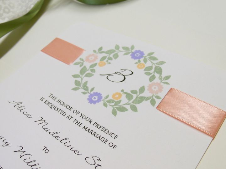 Tmx 1415215276064 Stamped Floral 4 Conway, SC wedding invitation