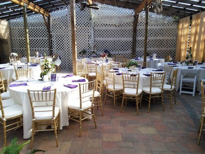 Garden reception setup