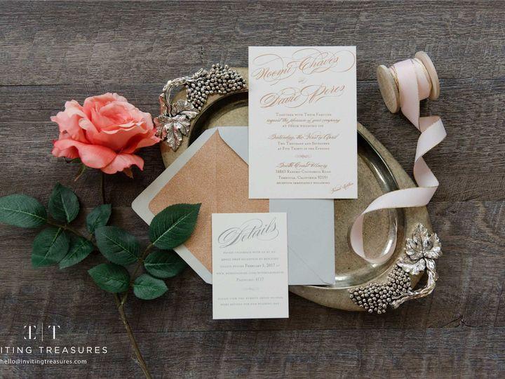 Tmx 1501048968637 Customweddinginvitationsrosegoldweb New Providence, NJ wedding invitation