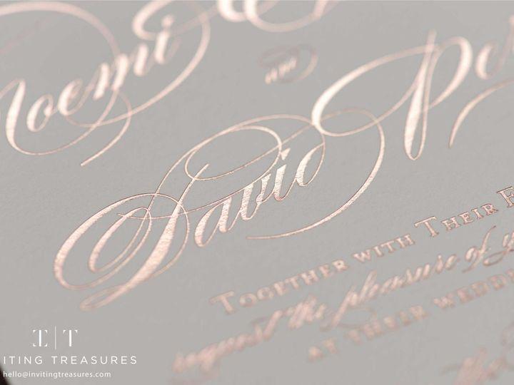 Tmx 1501048992068 Rosegoldfoilprinting New Providence, NJ wedding invitation