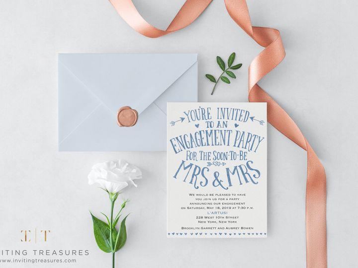 Tmx 1517884392 77f3573416a08672 1517884390 3b1fe61cae8a6fb1 1517884389732 5 Same Sex Engagemen New Providence, NJ wedding invitation