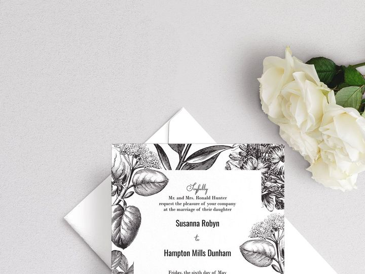 Tmx Classic Floral Wedding Invitation 51 929197 1555963511 New Providence, NJ wedding invitation