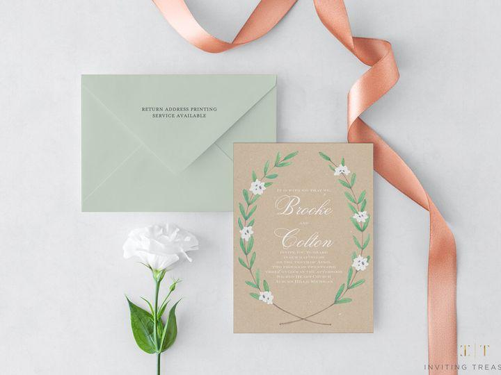 Tmx Rustic Design Invitations 51 929197 New Providence, NJ wedding invitation