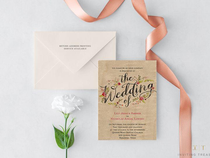 Tmx Wood Design Invitations 51 929197 New Providence, NJ wedding invitation