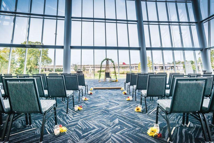 Atrium ceremony set up