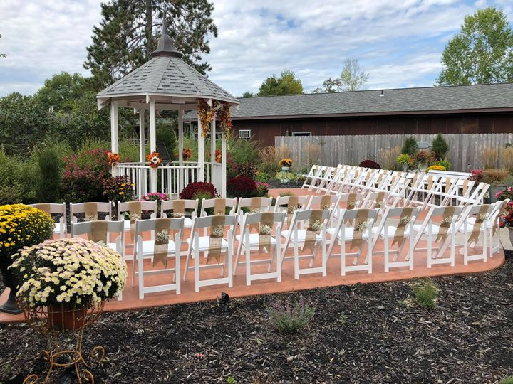 Gazebo and family seating