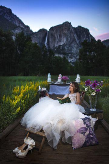 Yosemite bridal portrait