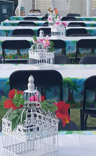Table setting for a luau