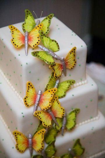 Sugar Butterflies Cake