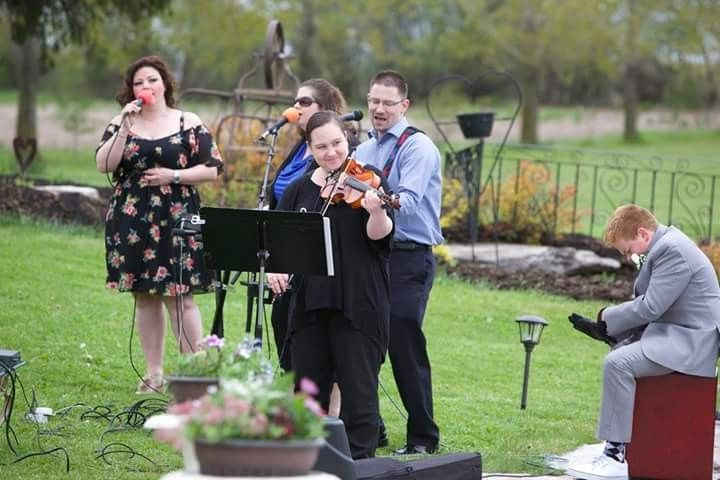 Wedding in Canada, playing with worship team