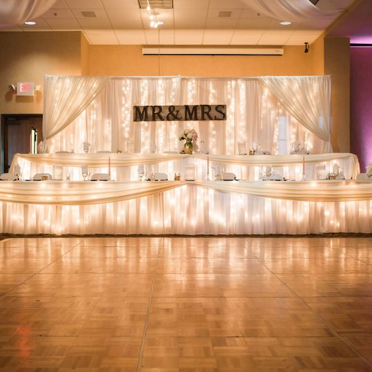 Head Table and dancefloor setup