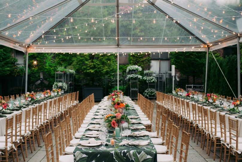 Wedding under the lights