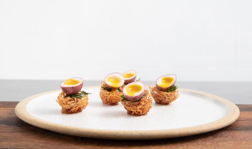 bonbite catering quail egg birds nest small bite bespoke catering 51 985297 157594310185396