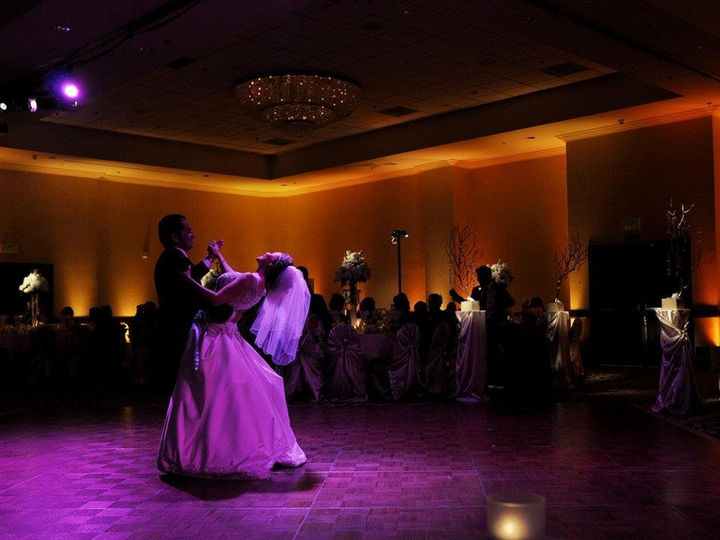 A beautiful picture capturing Rafael and Monte's first dance.