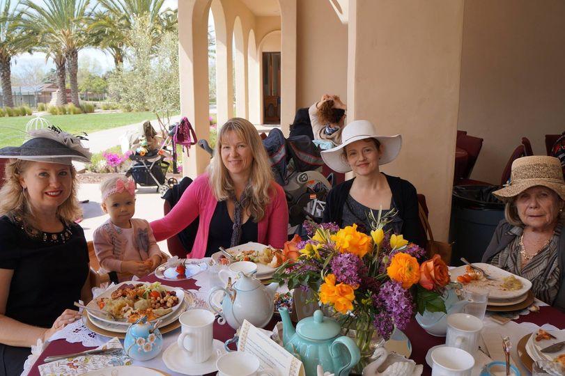 Guests having tea
