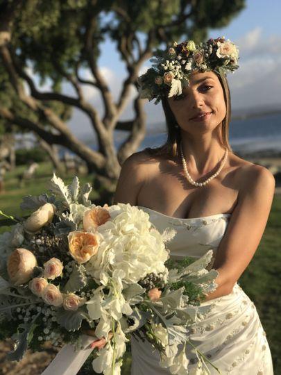 Bride wit bouquet