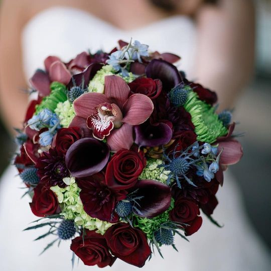 Dark colored bouquet