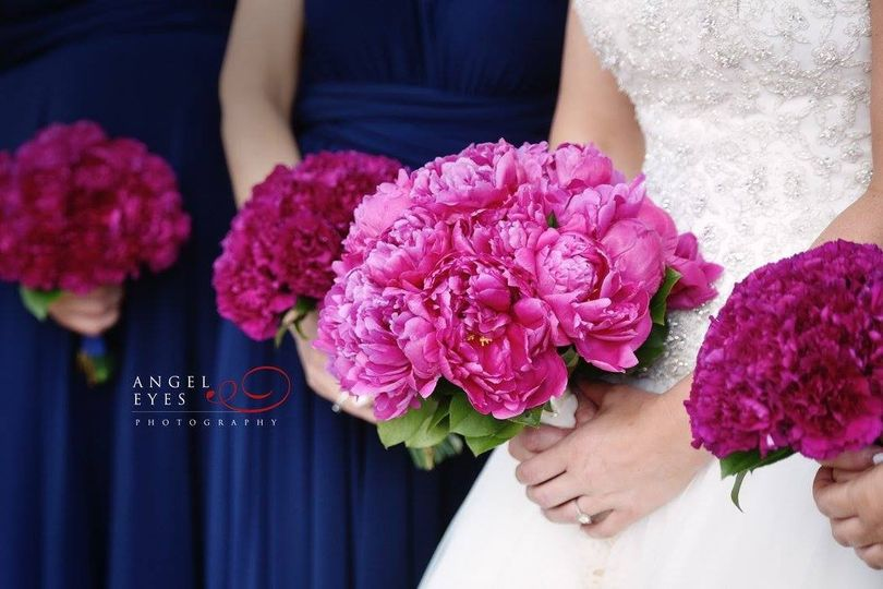 Pink and violet flowers