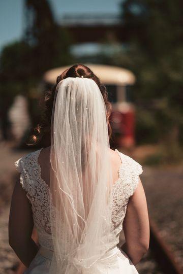 An expectant bride