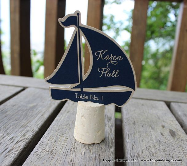 sail boat place card