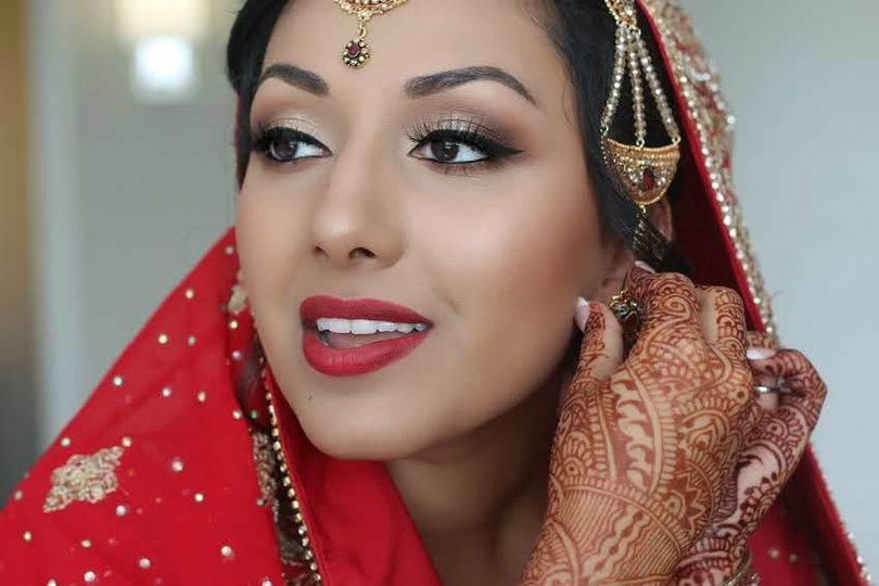 Traditional wear and henna tattoos