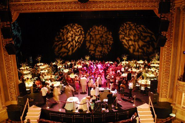 Wedding set up on Hippodrome Stage