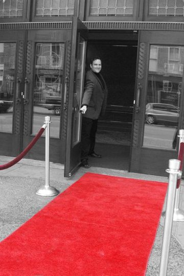 Main Hippodrome Doors with red carpet for the full theatre experience.