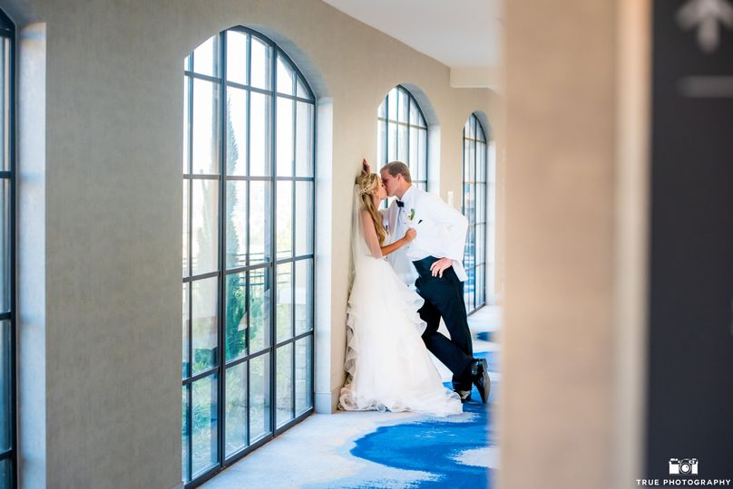 Couple in Westin hallway