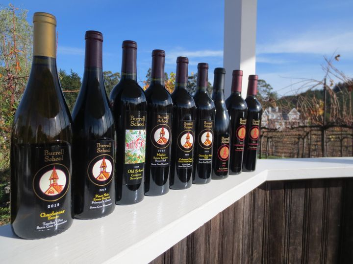 Line up of wines