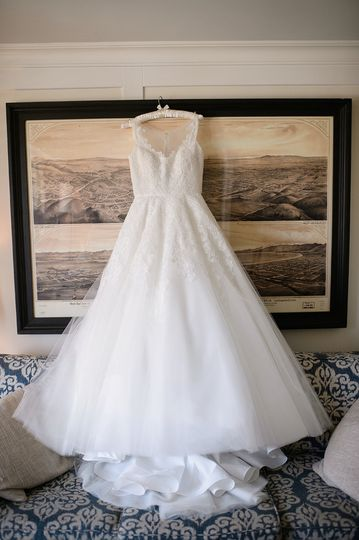 Bridal Gown before the wedding.