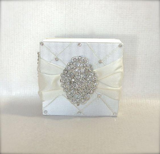 Personalized Wedding Card Box Secured Lock Peach Pink Cream Wedding Card Holder Unique Elegant...