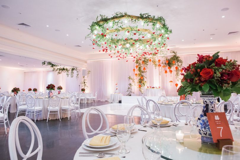 Floral themed reception