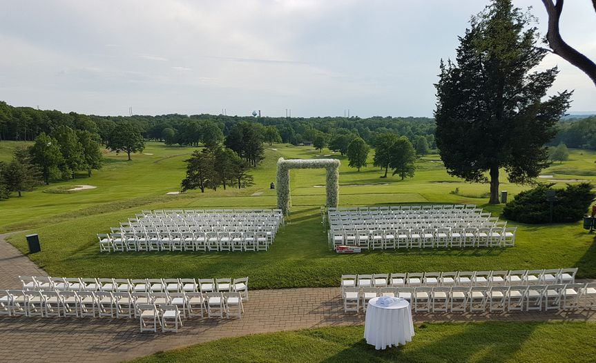 Outdoor ceremony set up